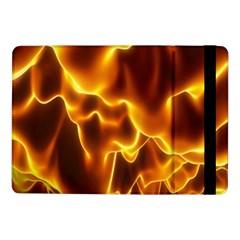 Sea Fire Orange Yellow Gold Wave Waves Samsung Galaxy Tab Pro 10 1  Flip Case by Alisyart