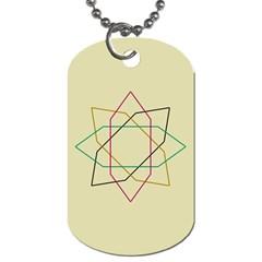 Shape Experimen Geometric Star Sign Dog Tag (two Sides) by Alisyart