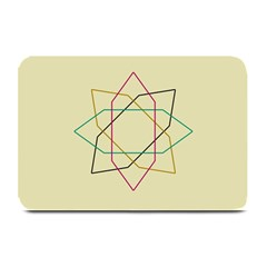 Shape Experimen Geometric Star Sign Plate Mats by Alisyart