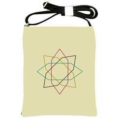 Shape Experimen Geometric Star Sign Shoulder Sling Bags by Alisyart
