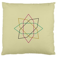 Shape Experimen Geometric Star Sign Large Cushion Case (one Side) by Alisyart