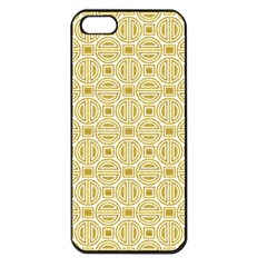 Gold Geometric Plaid Circle Apple Iphone 5 Seamless Case (black) by Alisyart