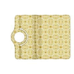 Gold Geometric Plaid Circle Kindle Fire Hd (2013) Flip 360 Case by Alisyart