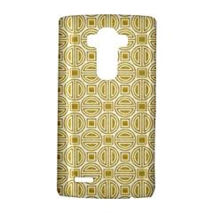 Gold Geometric Plaid Circle LG G4 Hardshell Case by Alisyart