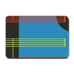 Sketches Tone Red Yellow Blue Black Musical Scale Small Doormat  by Alisyart