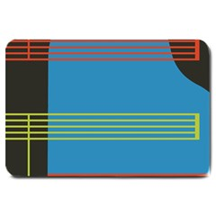 Sketches Tone Red Yellow Blue Black Musical Scale Large Doormat  by Alisyart