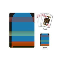 Sketches Tone Red Yellow Blue Black Musical Scale Playing Cards (mini)  by Alisyart