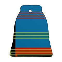 Sketches Tone Red Yellow Blue Black Musical Scale Bell Ornament (two Sides) by Alisyart