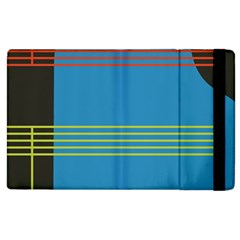 Sketches Tone Red Yellow Blue Black Musical Scale Apple Ipad 3/4 Flip Case by Alisyart