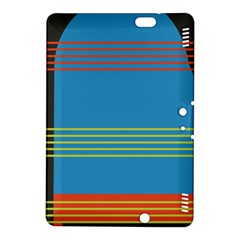 Sketches Tone Red Yellow Blue Black Musical Scale Kindle Fire Hdx 8 9  Hardshell Case by Alisyart