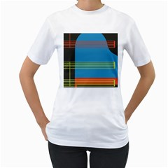 Sketches Tone Red Yellow Blue Black Musical Scale Women s T Shirt (white)  by Alisyart
