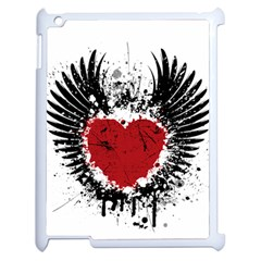 Wings Of Heart Illustration Apple Ipad 2 Case (white) by TastefulDesigns