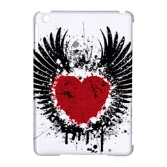 Wings Of Heart Illustration Apple Ipad Mini Hardshell Case (compatible With Smart Cover) by TastefulDesigns