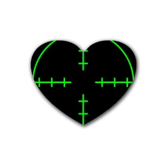 Sniper Focus Heart Coaster (4 Pack)  by Alisyart