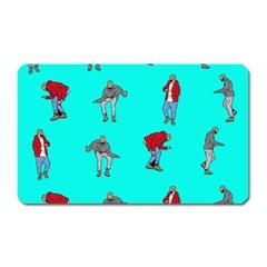 Hotline Bling Blue Background Magnet (rectangular) by Onesevenart