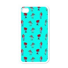 Hotline Bling Blue Background Apple Iphone 4 Case (white) by Onesevenart