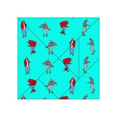 Hotline Bling Blue Background Acrylic Tangram Puzzle (4  X 4 ) by Onesevenart