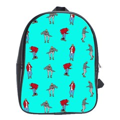 Hotline Bling Blue Background School Bags (xl)  by Onesevenart