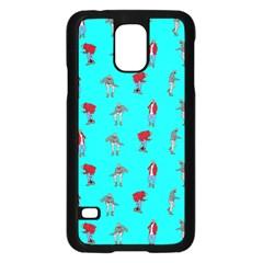 Hotline Bling Blue Background Samsung Galaxy S5 Case (black) by Onesevenart