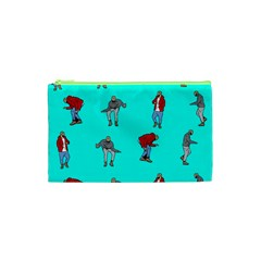 Hotline Bling Blue Background Cosmetic Bag (xs) by Onesevenart