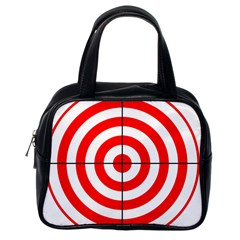 Sniper Focus Target Round Red Classic Handbags (one Side) by Alisyart