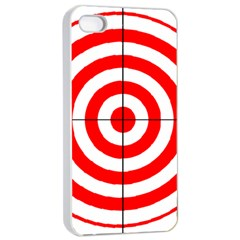 Sniper Focus Target Round Red Apple Iphone 4/4s Seamless Case (white) by Alisyart