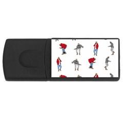 Hotline Bling Usb Flash Drive Rectangular (4 Gb) by Onesevenart