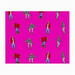 Hotline Bling Pink Background Small Glasses Cloth (2 Side) by Onesevenart
