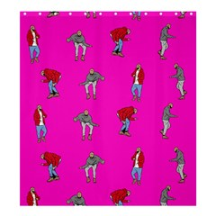 Hotline Bling Pink Background Shower Curtain 66  X 72  (large)  by Onesevenart