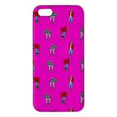 Hotline Bling Pink Background Apple Iphone 5 Premium Hardshell Case by Onesevenart