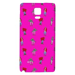 Hotline Bling Pink Background Galaxy Note 4 Back Case by Onesevenart