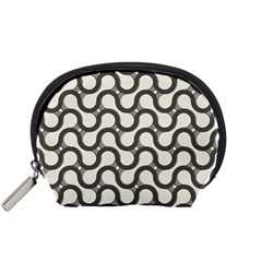 Shutterstock Wave Chevron Grey Accessory Pouches (small)  by Alisyart