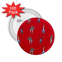 Hotline Bling Red Background 2 25  Buttons (100 Pack)  by Onesevenart
