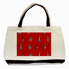 Hotline Bling Red Background Basic Tote Bag by Onesevenart