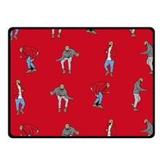 Hotline Bling Red Background Fleece Blanket (small) by Onesevenart