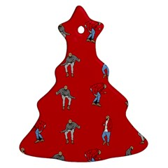 Hotline Bling Red Background Ornament (christmas Tree)  by Onesevenart