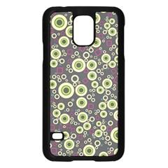 Ring Circle Plaid Green Pink Blue Samsung Galaxy S5 Case (black) by Alisyart