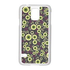 Ring Circle Plaid Green Pink Blue Samsung Galaxy S5 Case (white) by Alisyart