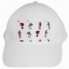 Hotline Bling White Background White Cap by Onesevenart