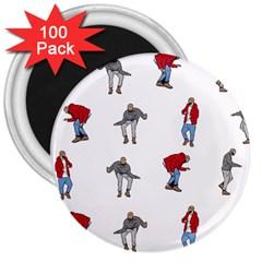 Hotline Bling White Background 3  Magnets (100 Pack) by Onesevenart