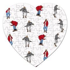Hotline Bling White Background Jigsaw Puzzle (heart) by Onesevenart