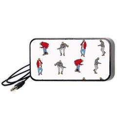 Hotline Bling White Background Portable Speaker (black) by Onesevenart