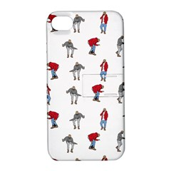 Hotline Bling White Background Apple Iphone 4/4s Hardshell Case With Stand by Onesevenart