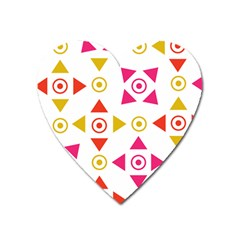 Spectrum Styles Pink Nyellow Orange Gold Heart Magnet by Alisyart