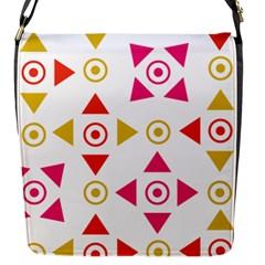 Spectrum Styles Pink Nyellow Orange Gold Flap Messenger Bag (s) by Alisyart