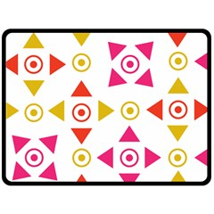 Spectrum Styles Pink Nyellow Orange Gold Double Sided Fleece Blanket (large)  by Alisyart