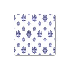Snow Blue White Cool Square Magnet by Alisyart