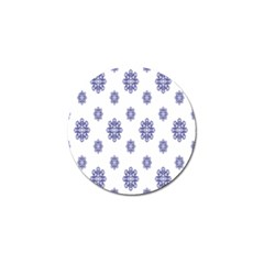 Snow Blue White Cool Golf Ball Marker (4 Pack) by Alisyart