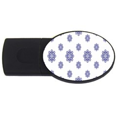 Snow Blue White Cool Usb Flash Drive Oval (2 Gb) by Alisyart