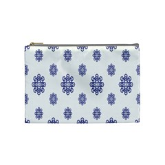 Snow Blue White Cool Cosmetic Bag (medium)  by Alisyart